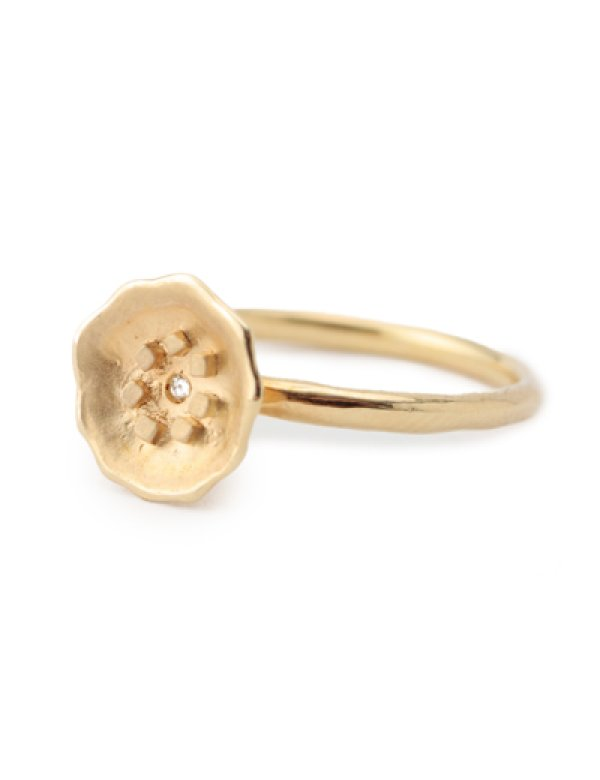 画像1: [GOLD] Flower Ring