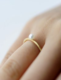 [GOLD] Pearl Ring