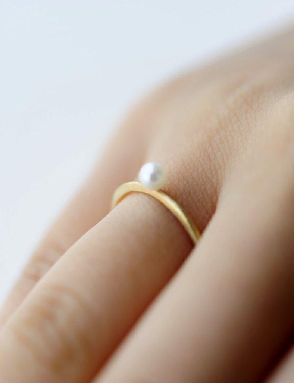 画像1: [GOLD] Pearl Ring